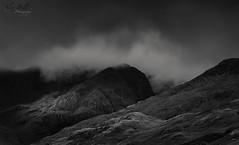 Waiting (Alex365pix) Tags: bw landscape lakedistrict rain clouds moody fells