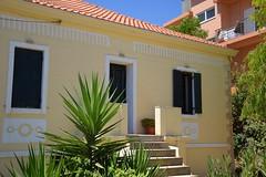 summer moods (JoannaRB2009) Tags: building architecture house home stairs windows yellow blue plant green kissamos crete kriti kreta greece greek