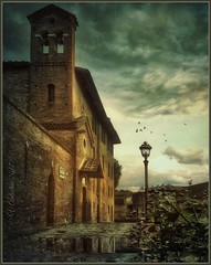 """From the series """"Walks in Italy"""". Viareggio. Evening. (odinvadim) Tags: mytravelgram paintfx textured textures iphone editmaster travel iphoneography sunset evening iphoneonly church painterly artist snapseed landscape photofx specialist iphoneart graphic painterlymobileart"""