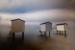 Beach Huts (2 of 4) (selvagedavid38) Tags: water sea sky ocean neutral density filter hut essex heybridge time tide long exposure relax
