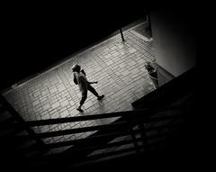 untitled-2-5 (Stevenchen912) Tags: streetphoto streetscene streetportrait streetphotographer composition contrast dark decisivemoment depth candid geometry geo blackwhite bw lady lowlight alone glow urbanlife urbanstreet shadow