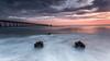 Steetley Pier (Steven Peachey) Tags: seascape sunrise sea sky clouds morning light le longexposure graduatedndfilter formatthitech leefilters lee09gnd beach seaside pier steetleypier northsands hartlepool northeastcoast northeastengland exposure colours stevenpeachey lightroom steetley ef1740mmf4l 5dmarkiv canon5dmarkiv canon uk england water ocean