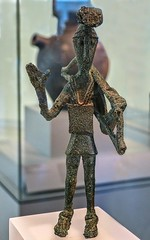 Statuette of a Warrior or Archer Sardinian 9th-7th century BCE Bronze (mharrsch) Tags: warrior soldier archer bow armor armour helmet plumed plumage crest breastplate tunic prayer ancient sardinia 9thcenturybce artinstituteofchicago chicago illinois mharrsch 8thcenturybce 7thcenturybce nuraghi