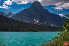 Traveling theough the Rockies on a gorgeous summer day (Kasia Sokulska (KasiaBasic)) Tags: fujix canada alberta rockies mountains lake landscape summer
