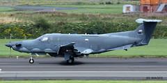 "USAF Pilatus U-28A 07-0821 ""Reach 1020"" Glasgow Prestwick 3/8/17 (BS Images.) Tags: airport aircraft aviation ayrshire egpk glasgowprestwick gpa prestwick prestwickairport pik southayrshire scotland us usaf military pc12 pilatus u28a"