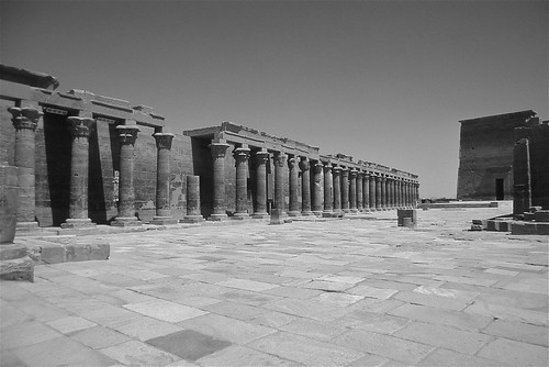 Outer Court with Colonnade and First Pylon ...