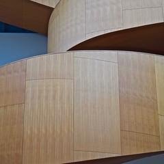 Urban Abstract No 53 (llawsonellis) Tags: staircase wood design moderndesign interiordesign line linear rhythms curves linetocurve texture pattern spiral square squareformat blue brown nikon nikond5300