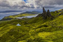 Old man of Storr (Karine EyE) Tags: ecosse scotland pinnacles green skye aerial
