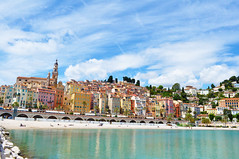 menton (my lala) Tags: menton france francuska cote dazur french riviera street squere sea beach colorful reflexion vintage old city beautiful