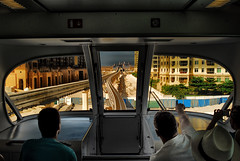 The strange city of Dubai (rvjak) Tags: dubai emirate train middle east moyen orient railway metro building city d200 nikon