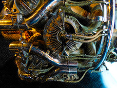 A Bristol Centaurus (Steve Taylor (Photography)) Tags: bristolcentaurus art digital museum metal uk gb england greatbritain unitedkingdom london texture plane aeroplane aircraft sciencemuseum exhaust piston engine bristol