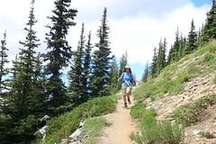 Happy Hippie Hiker (Bella Lisa) Tags: mountrainiernationalpark sourdoughmountains washington sunrisevisitorcenter degepeak mtrainier emmonsvista curlyeverlasting wildflowers wilderness nationalpark washingtonstate sunsetpoint hiking emmonsglacierevergreens pines pinetrees