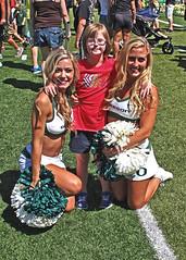 A Trio of Cheerleaders (C.P. Kirkie) Tags: oregon oregonducks oregoncheer universityoforegoncheerleading universityoforegoncheerleaders universityoforegon cheerleading cheerleader cheer eugene autzenstadium
