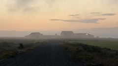 Isolation (Andrew G Robertson) Tags: iceland mist fog farm farmhouse morning dawn hvolsvöllur rural canon 5d mkiv mk4 isolation sunrise sunset arctic