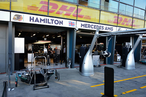 Mercedes garage and pits