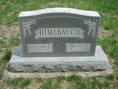 Headstone - Herschel Homer Himebauch and Violet Meyers Webb