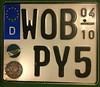 GERMANY, WOLFSBURG ---SEASONAL MOTORCYCLE PLATE (woody1778a) Tags: germany deutschland europemyhobby mycollection europa europe licenseplate numberplate