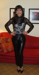 Leather Pants 2 (xgirltv1000) Tags: tgirl trans transgender transisbeautiful crossdress mtf transformation makeover leather leatherpants michellemonroe