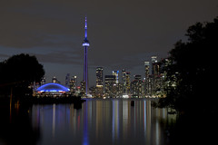 Night Reflections (cjb_photography) Tags: canada centreisland city cityscape cntower harbour lakeontario landscape longexposure night nightlights ontario skyline torontoon