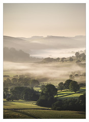 Dove Valley Mist (Dave Fieldhouse Photography) Tags: dovevalley staffordshire staffordshirelife farmland sheep farmbuilding farmhouse trees fields peakdistrict peaks nationalpark morning sunrise mist autumn portrait countryside outdoors september wwwdavefieldhousephotographycom fuji fujifilm fujixt2 longnor gluttonbridge hollinsclough