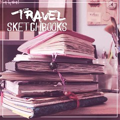 My Travel Sketchbooks (Pamplemuss) Tags: sketchbook sketch photo watercolor watercolorsketch watecolor aquarelle illustration diary