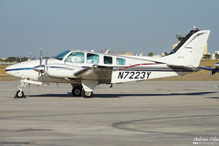 Private --- Beechcraft 58 Baron --- N7223Y (Drinu C) Tags: adrianciliaphotography sony dsc mla lmml plane aircraft aviation hx9v private beechcraft 58 baron n7223y