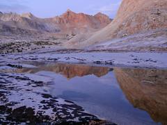 Alpen Glow Reflection (CloudRipR) Tags: evolutionbasin alpenglow sierras easternsierras night reflections