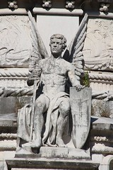 Praça Afonso de Albuquerque (richardr) Tags: praçaafonsodealbuquerque belém angel male man myth mythology sculpture lisbon lisboa portugal portuguese portuguesa europe european old city history heritage historic