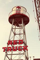 Red Truck Beer (annapolis_rose) Tags: vancouver redtruckbeer sign eastvan