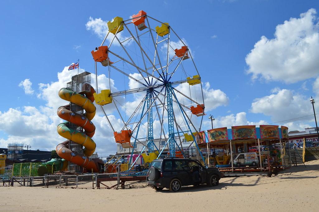 Fairground on Cleethorpes beach