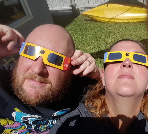 Nerds watching the eclipse