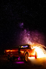 Star Ride (Graveyardworker) Tags: bclightart graveyardworker jordanriver lightpainting shadowplay abandoned adventure art bc canada colours dark exploration graveyardwork house landscape light lightart lightscape longexposure lpwalliance milkyway night nightlights nightphotography nightscape pacificnorthwest paintingwithlight space stars trippy urbex