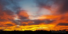 Amazing Sunset. (K.Yemenjian Photography) Tags: augusta georgia unitedstates augustaga skyline sunlight sunset cloudy clouds silhouettephotography silhouette redsky orangesky cellphonesshot samsung samsunggalaxys6