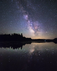 An Island in the Stars (andrewpmorse) Tags: stars starscape milkyway night dark nightlights nightsky reflection lake algonquin algonquinprovincialpark ontario canada canon 6d rokanon14mmf28 longexposure landscape sky darkness