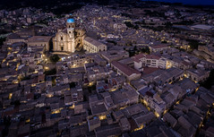 Piazza Armerina Cathedral (mcalma68) Tags: sicily piazza armerina drone cityscape dusk aerial cathedral
