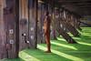 Rust & Lime (Sue MacCallum-Stewart) Tags: anthonygormley folkestonetriennial gormley sunrise iron statue rust seaweed wood kent