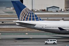 sfo744ua_N127UA_tail (Søren Geertsen) Tags: n127ua unitedairlines united boeing747422 boeing747 boeing747400 sfo ksfo sanfranciscoairport