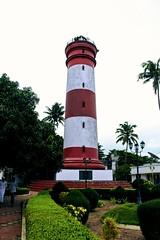 Alleppey lighthouse (Rajesh_Kr) Tags: cloudy alleppey alappuzha lighthouse striped beach arabian sea kerala