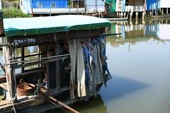 Sampan (superzookeeper) Tags: reflection water river sampan canoneos5dmarkiv ef2470mmf28liiusm 5dmk4 5dmkiv hk hongkong namsangwai eos people boat ferry village yuenlong digital