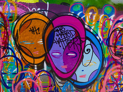 The Hated Hatterz (Steve Taylor (Photography)) Tags: hatedhatterz hoodie face leakestreet art graffiti mural streetart colourful vivid girl lady woman uk gb england greatbritain unitedkingdom london th
