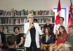 IMG_1947 Premier Kathleen Wynne visited Lawrence Park High School. (Ontario Liberal Caucus) Tags: school highschool colle hunter education students eglingtonlawrence toronto