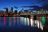 Portland Oregon (russ david) Tags: portland oregon or april 2017 skyline willamette valley pacific northwest architecture bridge river hawthorne blue hour