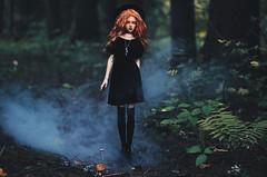 magic I (AzureFantoccini) Tags: bjd abjd doll granado ozin5 hybrid emon forest magic witchcraft nature eva fog gothic wizard balljointeddoll