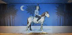 Le vengeur masqué (HBA_JIJO) Tags: streetart urban graffiti paris art france artist hbajijo wall mur painting aerosol peinture murale spray bombing urbain rehab2 animal horse cheval