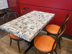 Wendy's Old Style Tables - 1970s (Brett Streutker) Tags: restaurant cafe diner eatery food hamburger cheeseburger eat fast macdonalds burger vintage colonel sanders kentucky fried chicken big mac boy french fries pizza ice cream server tip money cash out dining cafeteria court table coffee tea serving steak shake malt pork fresh served desert pie cake spoon fork plate cup drive through car stand hot dog mustard ketchup mayo bun bread counter soda jerk owner dine carry deliver