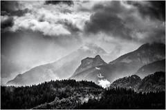 The Sun will be back... (Ody on the mount) Tags: allgäu alpen anlässe berge drama em5ii filmkorn himmel mzuiko6028 omd olympus urlaub wolken bw clouds monochrome mountains sw sky nesselwang bayern deutschland de