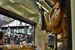 Restaurant Hanging Ham (Bri_J) Tags: lisbon portugal lisboa market nikon d7200 timeoutmarket mercadodaribeira ham pork hdr restaurant