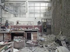 Laboratory (soho42) Tags: mamiya645protl kodakportapro400 abandoned decay analog lost laboratory industry textilefactory factory urbanexploration urbex