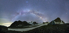 Abandoned ski base Upper Ala-Archa, Kyrgyzstan (Mike Reva) Tags: astronomy astrophoto astrophotography astro stars sky stargazing stillness samyang24 starrynight night nightsky nature nightscape hiking canon6d nights mountains milky milkyway snow
