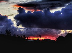 Sunset, over the train lines 🚅🚆 (LeanneHall3 :-)) Tags: sunset trainline train sky clouds